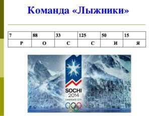 Команда «Лыжники»