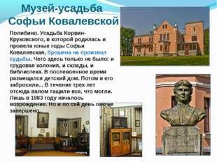 Музей-усадьба Софьи Ковалевской Полибино. Усадьба Корвин-Круковского, в котор