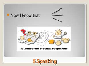 5.Speaking Now I know that