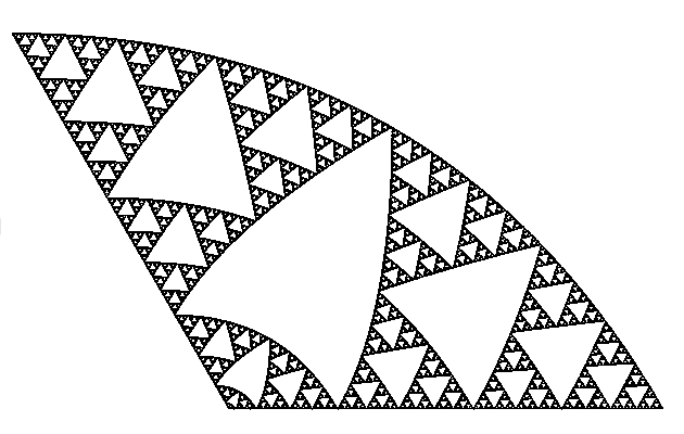 Преобразованный треугольник Серпинского
