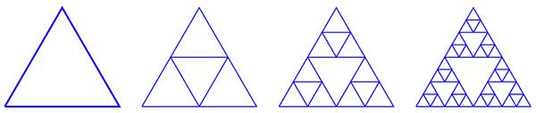 Построение треугольника Серпинского «в обратном направлении»