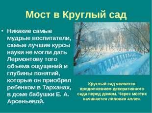 Мост в Круглый сад Никакие самые мудрые воспитатели, самые лучшие курсы науки