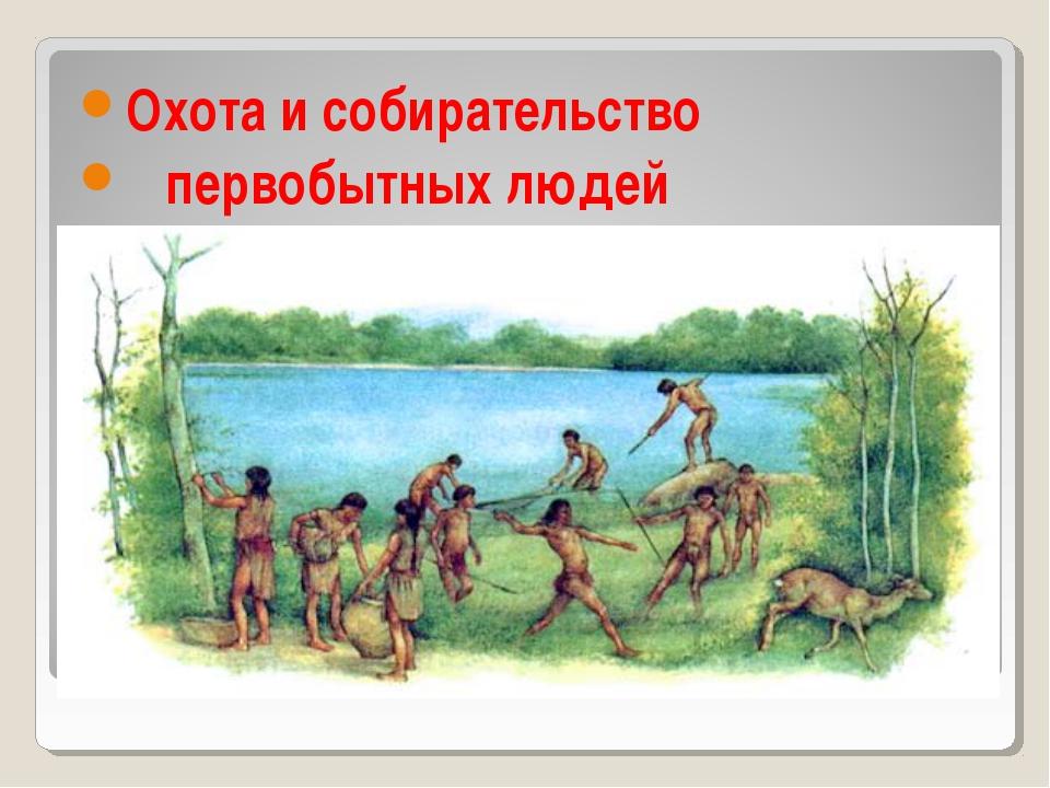 Охота и собирательство первобытных людей