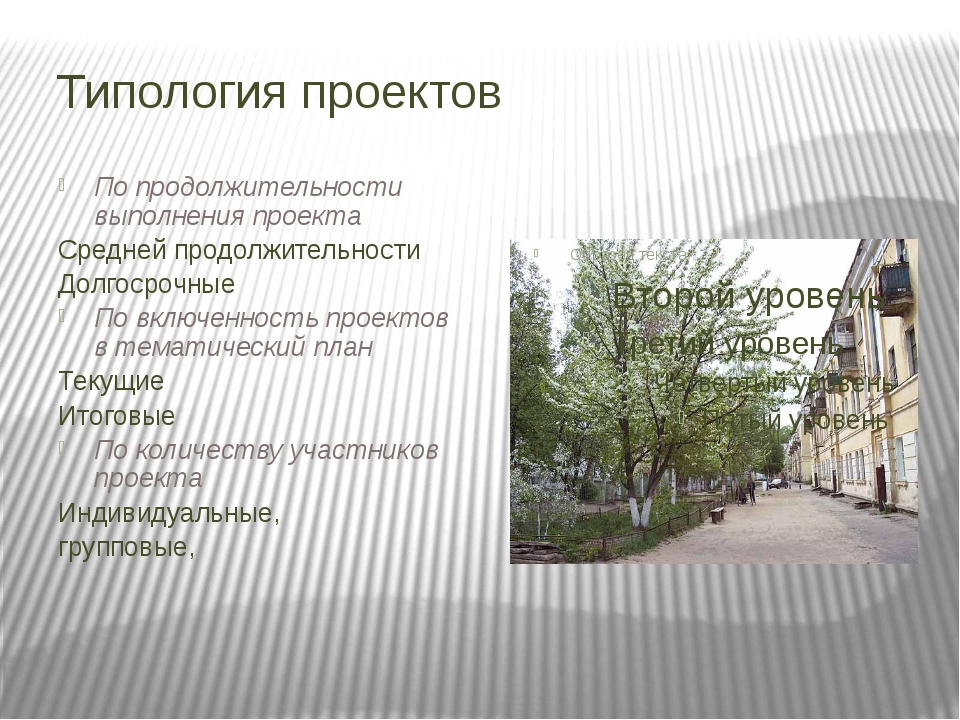 Типология проектов По продолжительности выполнения проекта Средней продолжите...