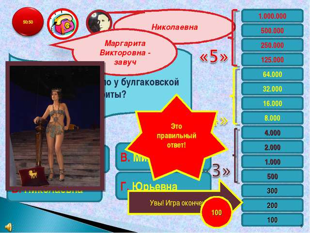 Николаевна 1.000.000 500.000 250.000 125.000 64.000 32.000 16.000 8.000 4.000...