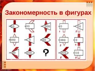 Закономерности числового ряда «Мир логики» Закономерность в фигурах