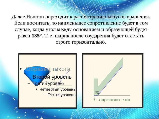 Далее Ньютон переходит к рассмотрению конусов вращения. Если посчитать, то на...