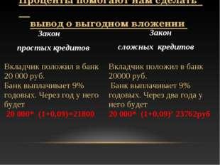 Вкладчик положил в банк 20000 руб. Банк выплачивает 9% годовых. Через два год