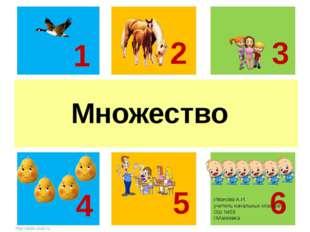м Множество 1 2 3 5 6 4 Иванова А.И. учитель начальных классов ОШ №59 г.Макее