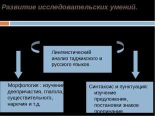 Развитие исследовательских умений. Морфология : изучение деепричастия, глаго