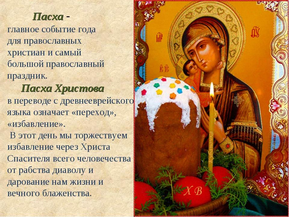 Пасха - главное событие года для православных христиан и самый большой право...
