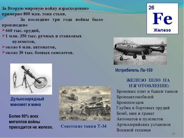 * За Вторую мировую войну израсходовано примерно 800 млн. тонн стали. За по...