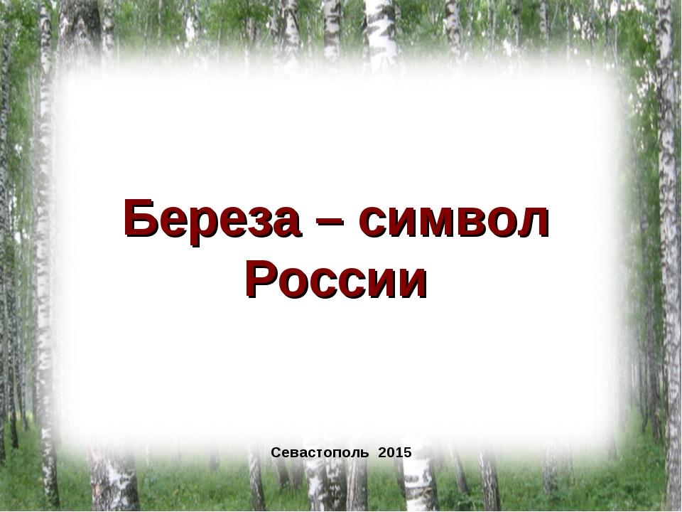Береза – символ России Севастополь 2015 Севастополь 2015