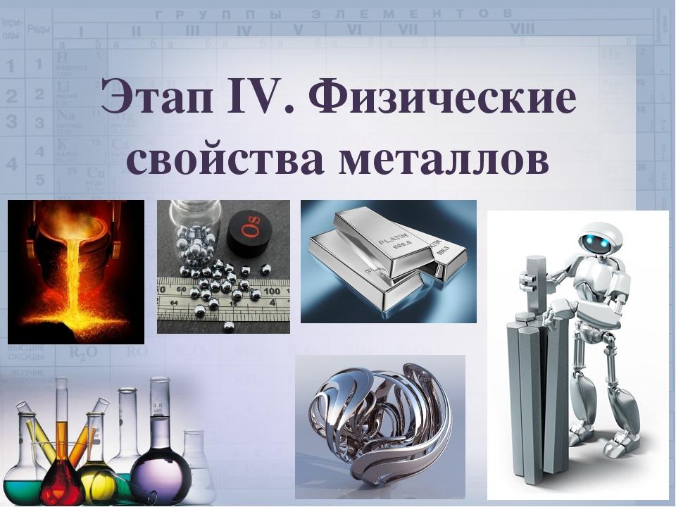 Этап IV. Физические свойства металлов