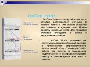 LexCom Home LexCom Home — звездообразная сеть, которая распределяет сигналы в