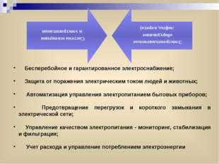 Бесперебойное и гарантированное электроснабжение; Защита от поражения электр