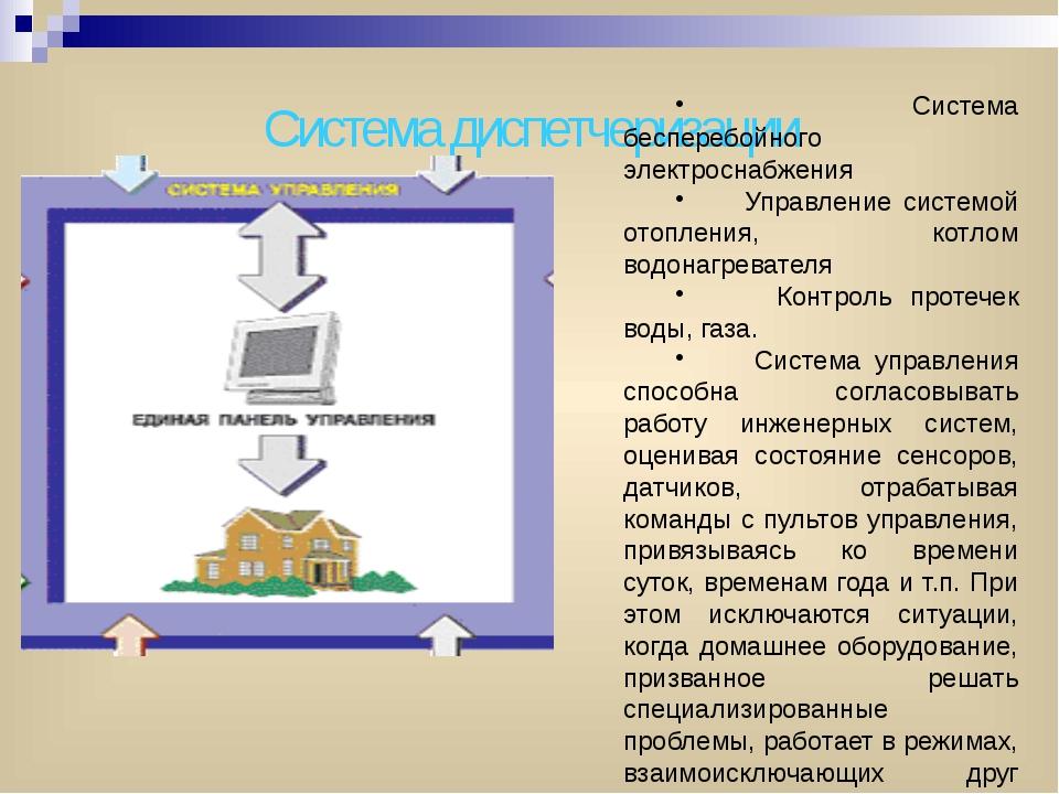 Система диспетчеризации Система бесперебойного электроснабжения Управление си...