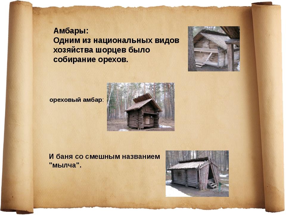 ореховый амбар: Амбары: Одним из национальных видов хозяйства шорцев было соб...