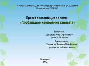 Муниципальное бюджетное общеобразовательное учреждение Одинцовская СОШ №3 Пр