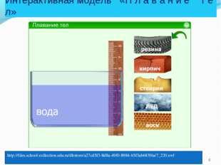 Интерактивная модель «П л а в а н и е т е л» http://files.school-collection.e