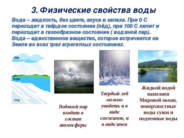 Жидкой водой наполнен Мировой океан, поверхностные воды суши и подземные воды...