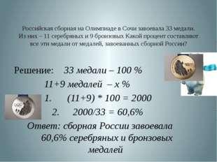 Российская сборная на Олимпиаде в Сочи завоевала 33 медали. Из них – 11 сереб