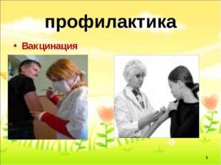 профилактика Вакцинация *