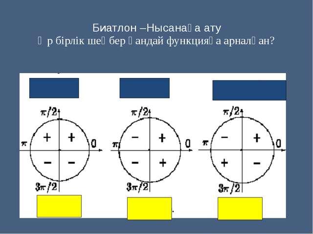Биатлон –Нысанаға ату Әр бірлік шеңбер қандай функцияға арналған?