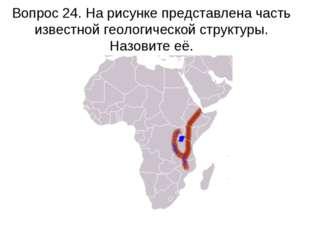 Вопрос 24. На рисунке представлена часть известной геологической структуры. Н