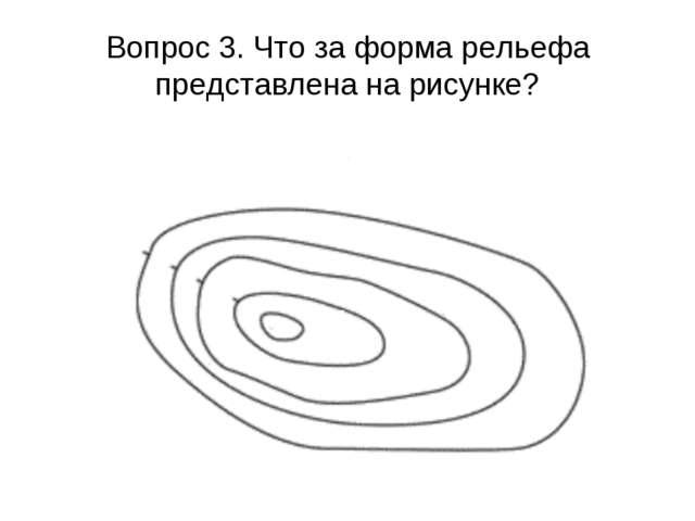 Вопрос 3. Что за форма рельефа представлена на рисунке?