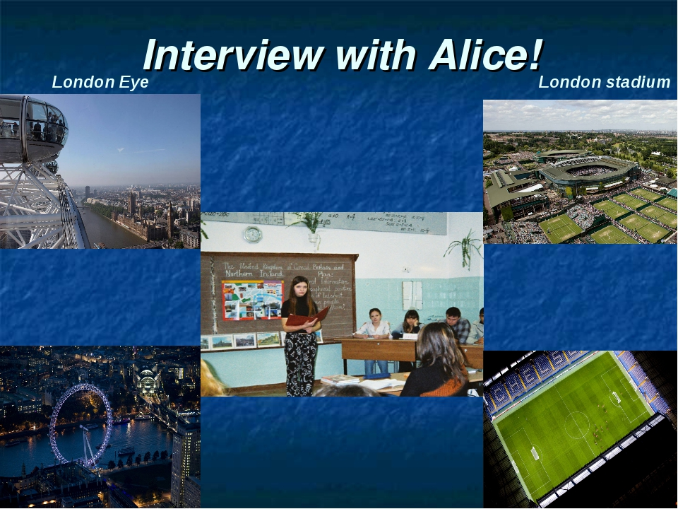 Interview with Alice! London Eye London stadium