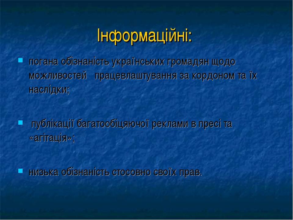 погана обізнаність українських громадян щодо можливостей працевлаштування за...