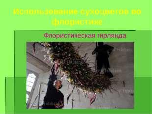 Использование сухоцветов во флористике Флористическая гирлянда