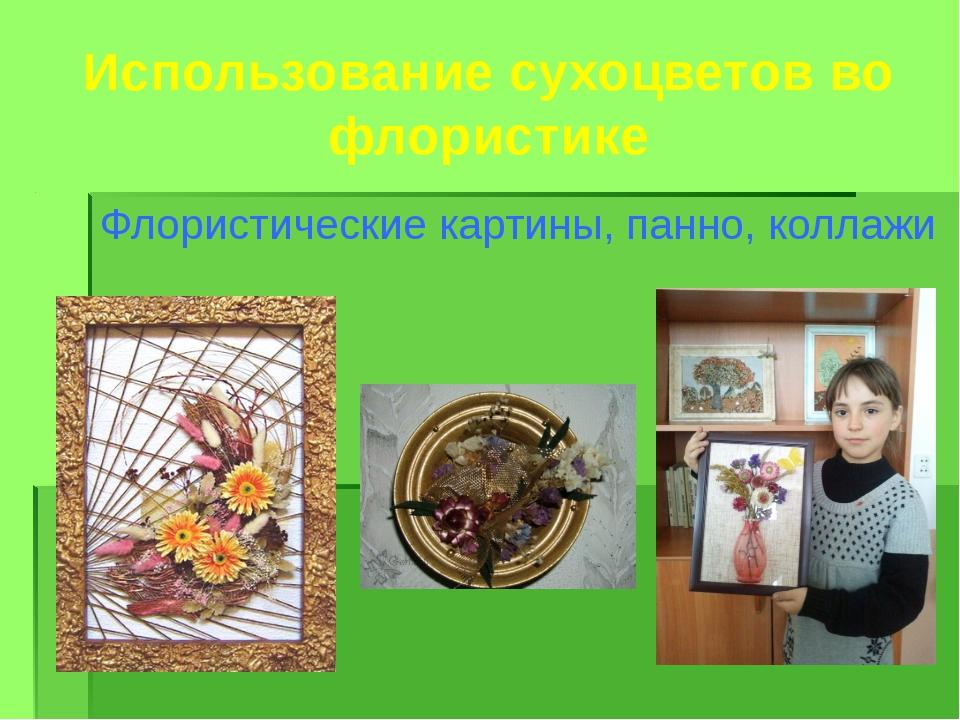 Использование сухоцветов во флористике Флористические картины, панно, коллажи