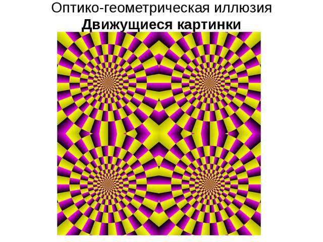 Оптико-геометрическая иллюзия Движущиеся картинки