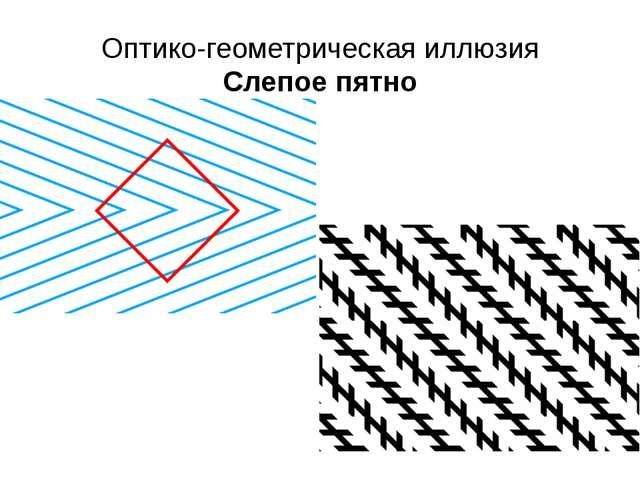 Оптико-геометрическая иллюзия Слепое пятно