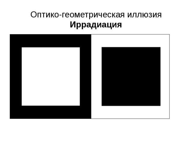 Оптико-геометрическая иллюзия Иррадиация
