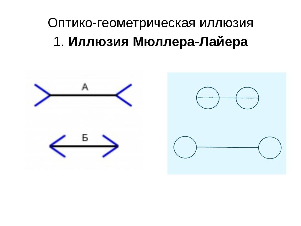 Оптико-геометрическая иллюзия 1. Иллюзия Мюллера-Лайера