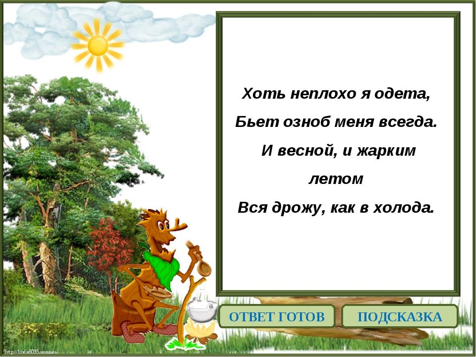 http://linda6035.ucoz.ru/ Хоть неплохо я одета, Бьет озноб меня всегда. И в...