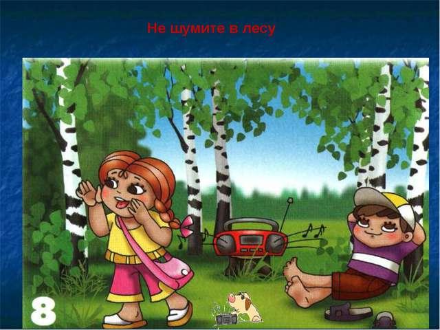 Не шумите в лесу