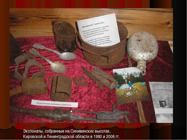 Экспонаты, собранные на Синявинских высотах, Кировской и Ленинградской област...
