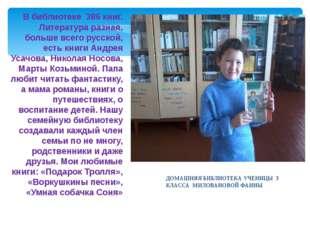 В библиотеке 386 книг. Литература разная, больше всего русской, есть книги Ан