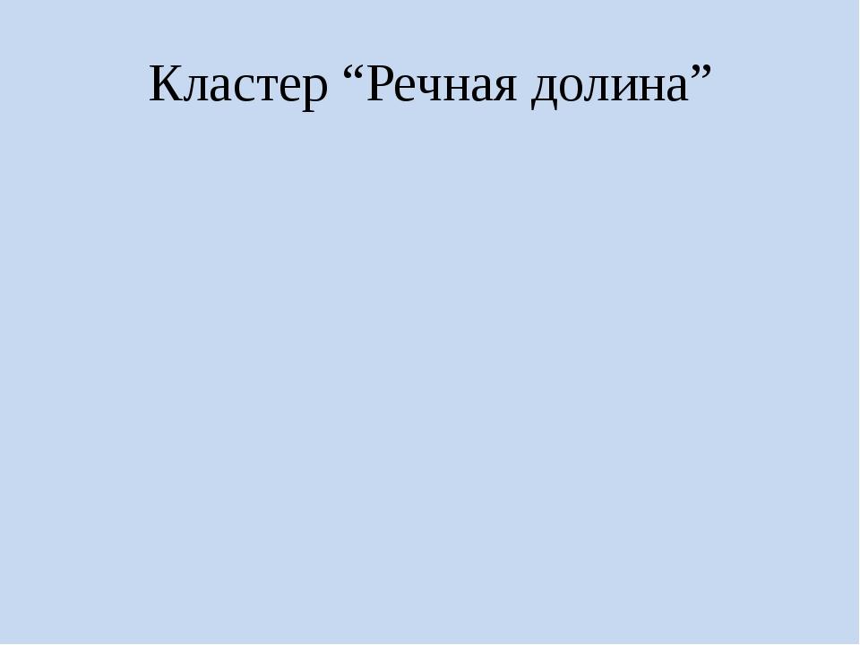 "Кластер ""Речная долина"""