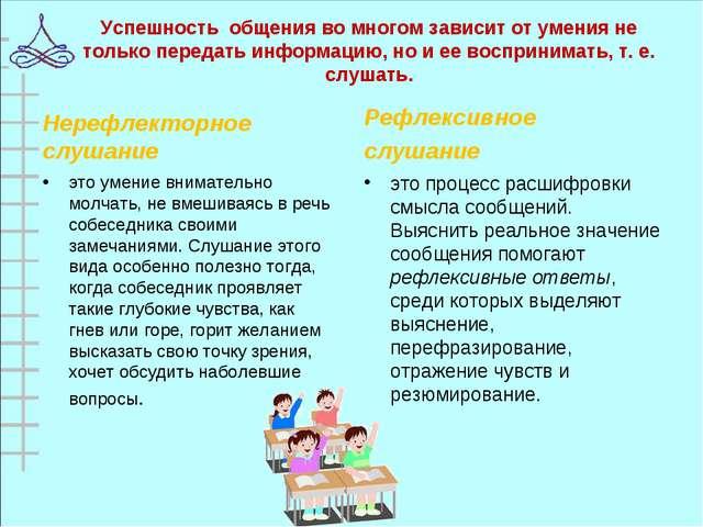 Успешность общения во многом зависит от умения не только передать информацию,...