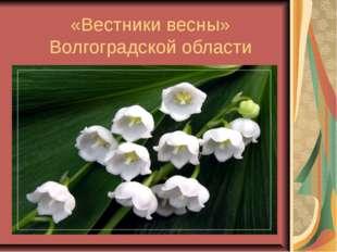 «Вестники весны» Волгоградской области