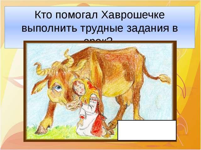 Кто помогал Хаврошечке выполнить трудные задания в срок? Корова