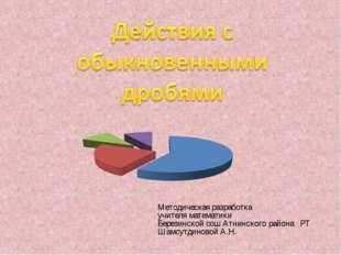 Методическая разработка учителя математики Березинской сош Атнинского района