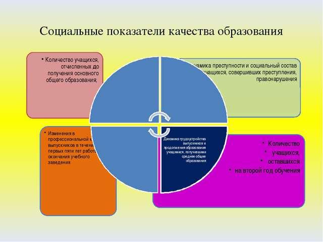 Социальные показатели качества образования