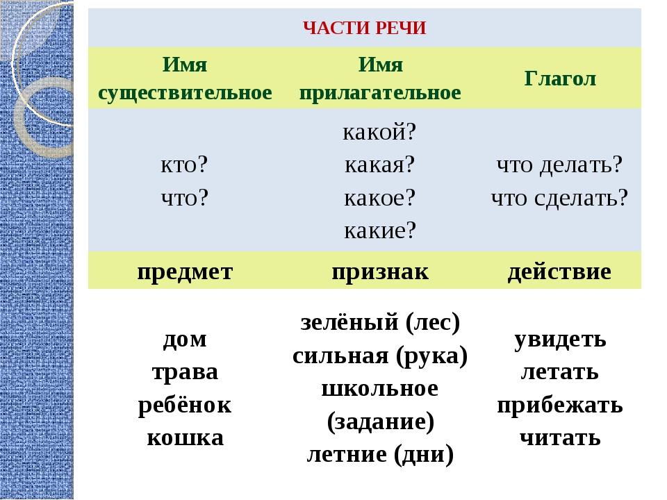 Имя прилагательное правила с примерами