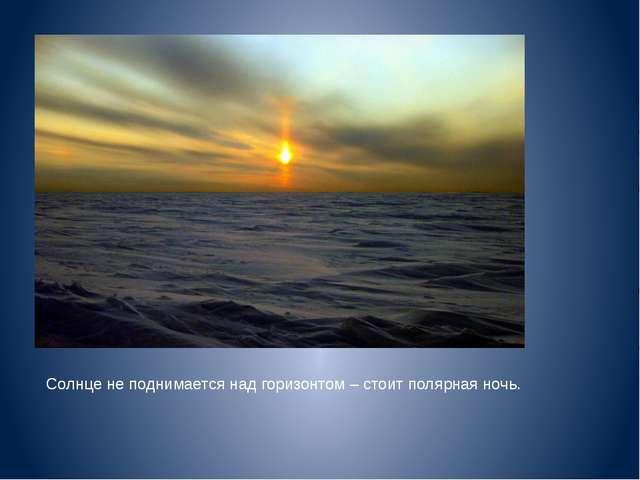 Солнце не поднимается над горизонтом – стоит полярная ночь.